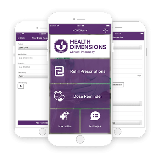 Health Dimensions Clinical Pharmacy HDRX Portal App
